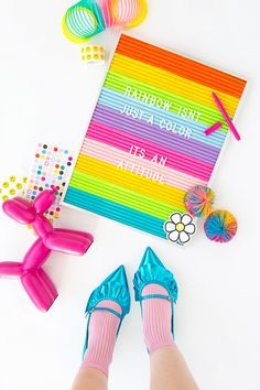 DIY Rainbow Felt Letter Board