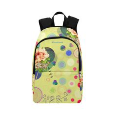 Original Picco Boho circles gooseberry Fabric Backpack for Adult (Model Pouch Bag, Pouches, Stitch Lines, Matching Outfits, Travel Accessories, Gifts For Mom, Fashion Backpack, Activities For Kids, Bff