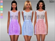 Sims Addictions: Harmony Dress by Margies Sims • Sims 4 Downloads