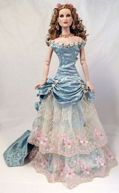 by Dalila/Loves Dolls/ Barbie Gowns, Barbie Dress, Barbie Clothes, Doll Dresses, Victorian Gown, Victorian Dolls, Barbie Patterns, Doll Clothes Patterns, Vintage Barbie