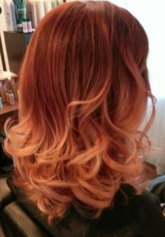 My most beloved flame Red and Copper ombre TWEETED BY REDKEN! Done by Locks of Envy