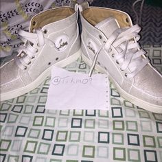 Christian Louboutin sneakers White size 37.5 women CLs. Dust bag yes box no. Worn numerous times odor free. All it takes is some cleaning. Christian Louboutin Shoes Sneakers