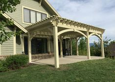 There are lots of pergola designs for you to choose from. You can choose the design based on various factors. First of all you have to decide where you are going to have your pergola and how much shade you want. Pergola Cost, Pergola Canopy, Deck With Pergola, Outdoor Pergola, Backyard Pergola, Pergola Plans, Backyard Ideas, Timber Pergola, Wooden Pergola