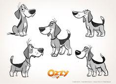 """301 отметок «Нравится», 7 комментариев — Oscar J Vargas (@oscar_j_vargas) в Instagram: «Algunos bocetos de Ozzy, el beagle protagonista de la película de animación """"Ozzy, la película""""…»"""