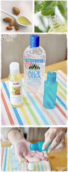 """ALL-IN-ONE """"MIRACLE"""" EYE SERUM == 2 ingredients (Aloe Vera Gel and Sweet Almonds Oil)  ===="""