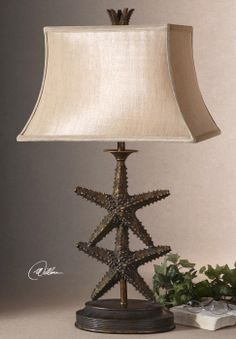 """Uttermost Starfish Gold Table Lamp.  17"""" W  13"""" D X 30"""" H.  Counters."""