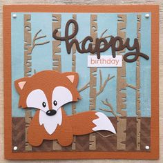 LindaCrea: Fox # 8 - diyevent All Pictures Marianne Design Cards, Animal Crafts For Kids, Spellbinders Cards, Diy Ostern, Cricut Cards, Birthday Cards For Men, Animal Cards, Cards For Friends, Diy Weihnachten