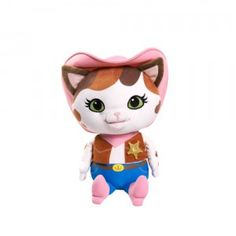 Moves its head and mouth when saying phrases from the show and singing the Sheriff Callie theme song.
