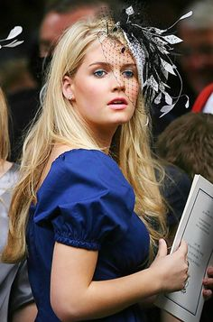 Lady Kitty Spencer at Diana's memorial service