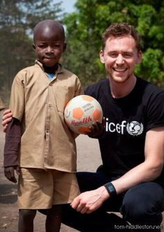 Tom Hiddleston UNICEF-his advocacy for such great causes make me want to meet him even more.
