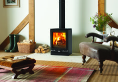 Stovax Vogue Small Wood Burning Eco Stove with Cast Iron Top Plate - Simply Stoves