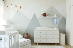 Modern Mountain Mural in Nursery - Project Nursery