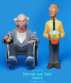 BREAKING BAD Toon-Up Figures: Hector and Gus by TrevorGrove on deviantART