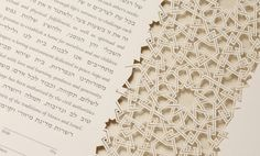 The CASABLANCA papercut ketubah / wedding vows by RuthMergi, $520.00