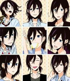 Izumi Miyamura | Horimiya|  Can't decide between his long or short hair. He looks good in both!