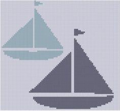 Sailboats Cross Stitch Pattern