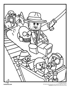Lego Coloring Pages Lego Indiana Jones Coloring Page – Cartoon Jr.