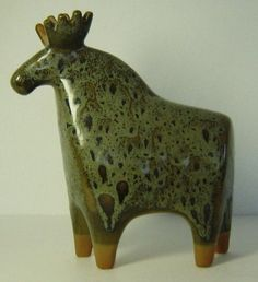 Clay Animal Sculptures | Large Pottery Sculpture Elk Lisa Larson Larsson Gustavsberg Sweden ...