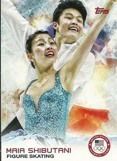 2014 Topps Winter Olympics Team MAIA SHIBUTANI # 75 Figure Skating - Set Break