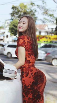 Wallpapers Work Black And White Tartan Plaid Ankle Length Dress Belle Nana, Burmese Girls, Femmes Les Plus Sexy, Girl Hijab, Cute Asian Girls, Beautiful Asian Women, Asian Woman, Asian Beauty, Natural Beauty