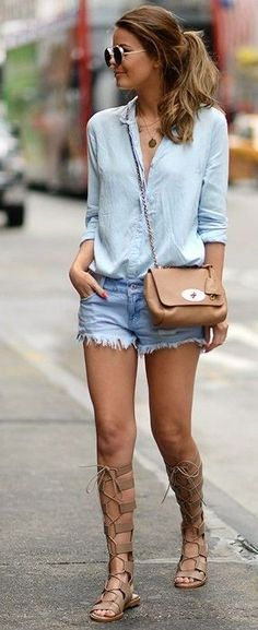 #summer #cute #outfits | Denim + Denim
