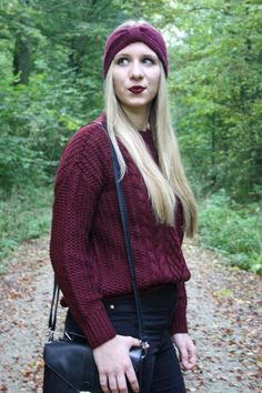 Bordeaux, Autumn, Herbst, Fall, Stirnband, Blogger