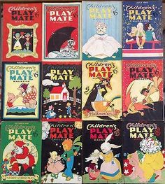 Children's Playmate Magazine 12 various back issues 1940-1941 (08/31/2014)