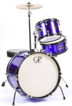 3 Piece Junior Set w/Cymbals, Throne & More - Purple - Long & McQuade - GP