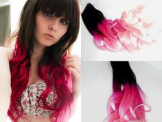 Selber Pink Ombre Hair mit Vpfashion Echthaar Extensions machen – ganz für 2013 Sommer! imitation is the best form of flattery...lol thanks for stealing my pictures.  go to  www.etsy.com/shop/artisicstrands if you wan the real thing as seen in the two pics to the right.