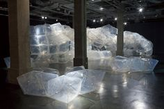 A shape-changeable set of linked ETFE cells supported by the air pressure installation pavilion