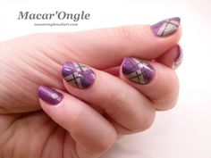 Argyle nailart - A England (Crown of Thistles, Her Rose Adagio and Jane Morris by A England)