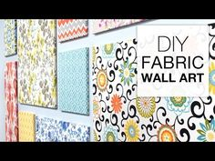 How to Make Fabric Wall Art - Easy DIY Tutorial. Get the fabric & supplies you need at OnlineFabricStore: . Want more info on this project, including written instructions? Find it here: . This tutor Fabric Covered Canvas, Framed Fabric, Fabric Wall Art, Fabric Panels, Fabric Decor, Teal Fabric, Wall Hanging Crafts, Diy Wall Art, Diy Wall Decor