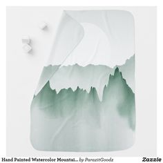 Hand Painted Watercolor Mountain Landscape Baby Blanket Woodland Baby, Woodland Animals, Cool Patterns, Textures Patterns, Soft Baby Blankets, Baby Monogram, Mountain Landscape, Consumer Products, Textured Background