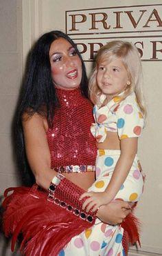 Cher & daughter Chastity (via Retro Wifey)
