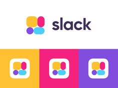 The New Slack designed by Sam Bunny. Connect with them on Dribbble; Logo Branding, Logos, Color Pallets, Slacks, My Arts, Graphic Design, Bunny, Colour, Color Palettes