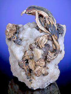 Native Silver on Quartz matrix from Silver Islet, Ontario, Canada