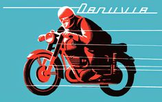 Vintage Motorcycles, Cars And Motorcycles, Vintage Advertisements, Advertising Ads, Vespa, Vintage Posters, Illustrations Posters, Art Quotes, Bicycle