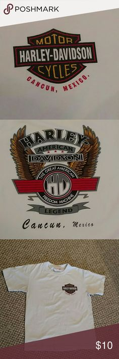 Harley Davidson T-shirt Short sleeve Harley Davidson t-shirt from Cancun, Mexico with intact graphics. Harley-Davidson Shirts Tees - Short Sleeve