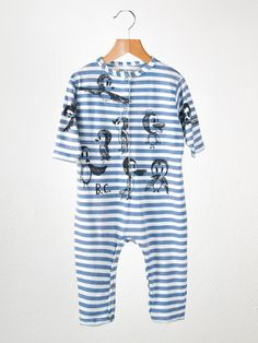Striped bird romper, #bobo #choses #baby #designer