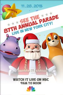 Macy's Thanksgiving Day Parade.....  Cool link to the Parade Web Site .. Games,  Pictures, Count Down....