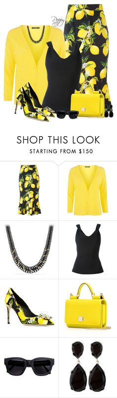 """Citrus Spring"" by bainbridgegal ❤ liked on Polyvore featuring Dolce&Gabbana, Weekend Max Mara, David Yurman, Chalayan, Acne Studios and Kenneth Jay Lane"