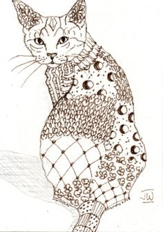 Zentangle Animals   zentangle an animal - WetCanvas