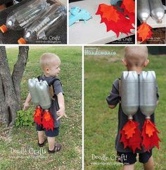Boys' Cottage. Rocket boosters. Costumes for boys.