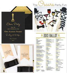 Party fun ideas for the Oscars at { anightowlblog.com }