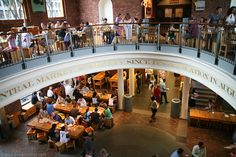 Check out the different dining options at Faneuil Hall--great food from around the world all right here in #Boston!