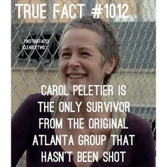 Interesting. (Rick was shot right before the apocalypse started, Carl was shot by Otis, and Daryl was shot by Andrea) <<< Wait, what about Glenn?