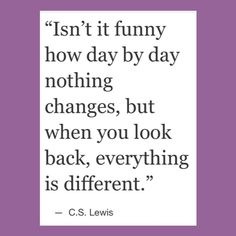 So true and so crazy. The change isn't big but it grows over time.