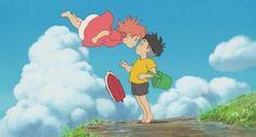 Ponyo [崖の上のポニョ Gake no Ue no Ponyo] (Hayao Miyazaki, Art Studio Ghibli, Studio Ghibli Films, Hayao Miyazaki, Wallpaper Studio, Studio Ghibli Background, Beloved Film, Studios, Birthday Wallpaper, Iwaoi