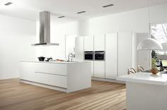 Cucina con isola SERIE 45 POLAR WHITE Collezione Contemporary by Muebles Dica