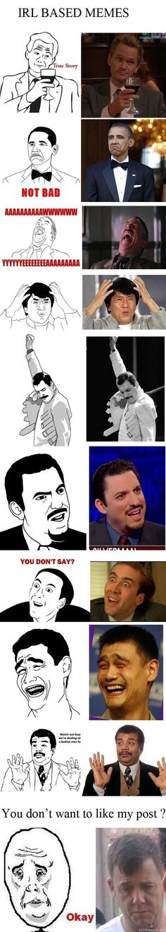 i love meme faces